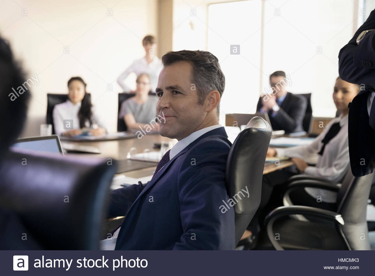 Excellent Confident Male Lawyer Listening In Conference Room Meeting Home Interior And Landscaping Ponolsignezvosmurscom