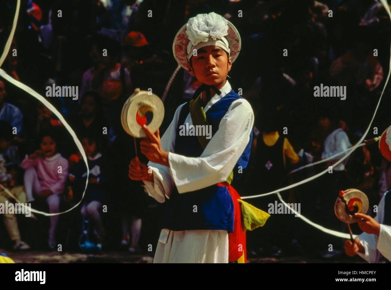 Male dancer, Olympic stadium in Seoul, South Korea. - Stock Image