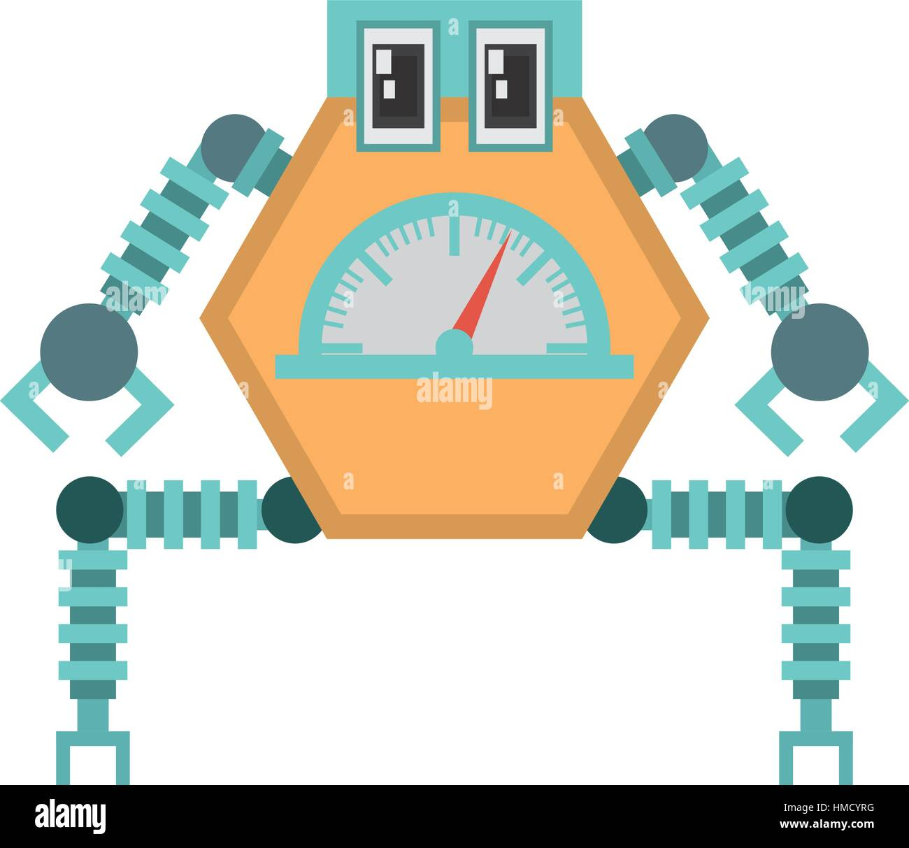 robot multi-task technology pincers arms vector illustration eps 10 - Stock Vector