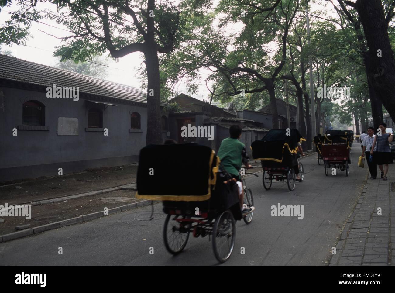 Rickshaw, Shichahai Lake, Beijing, China. - Stock Image