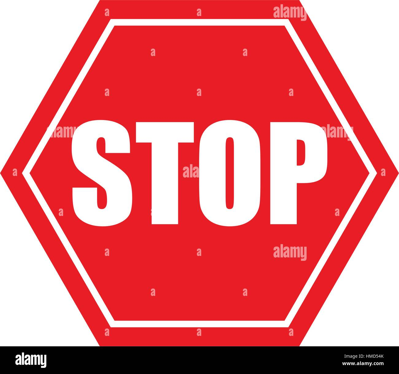 stop danger precaution sign traffic - Stock Image
