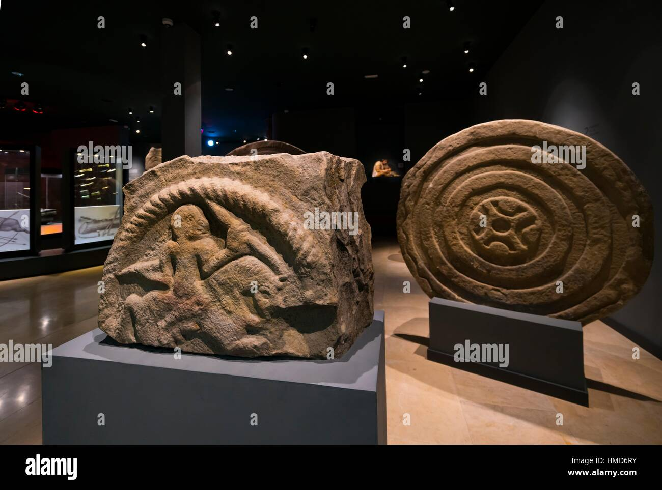 Cantabrian Museum of Prehistory and Archaeology, MUPAC, Santander, Cantabria, Spain, Europe. - Stock Image