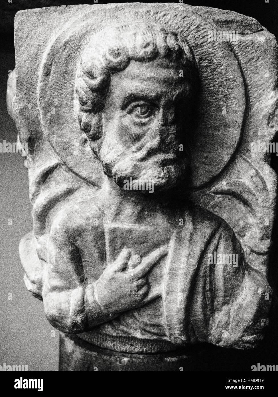 Byzantine christian capital. Archaeology Museum. Istanbul. Turkey. - Stock Image