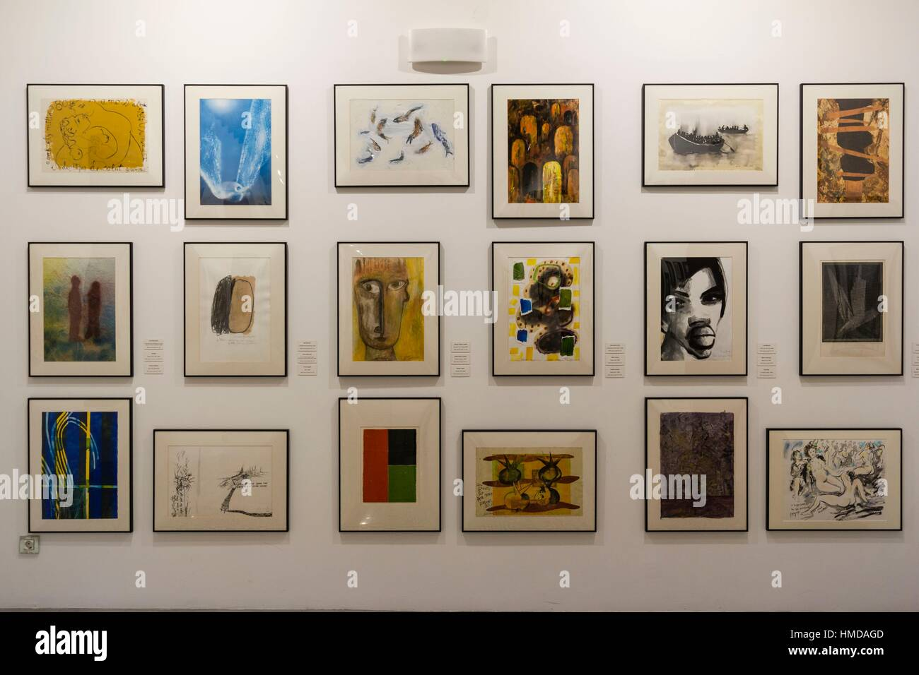 Can Prunera museum of modernism, 20th century, Soller, Serra de Tramuntana, Majorca, Balearic Islands, Spain - Stock Image