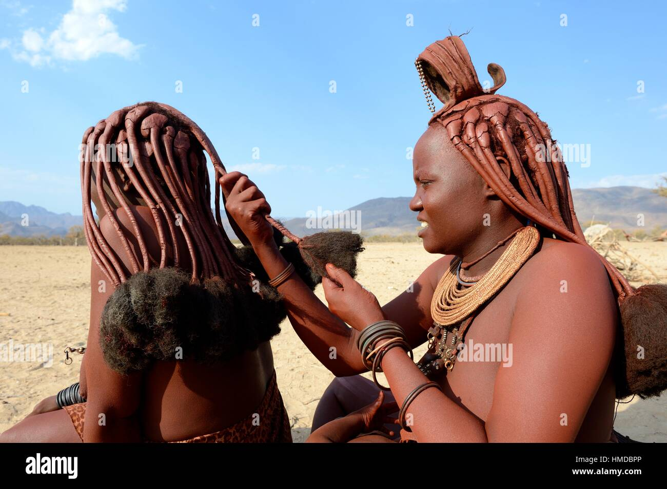 huge with himba udders woman