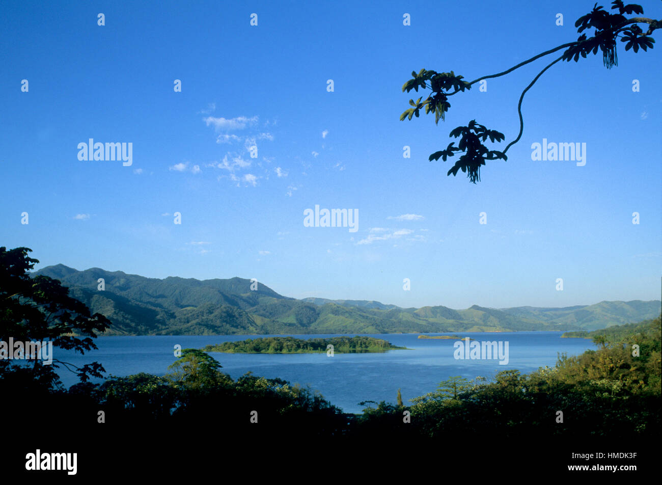Lake Arenal, looking west. Arenal National Park, Costa Rica - Stock Image