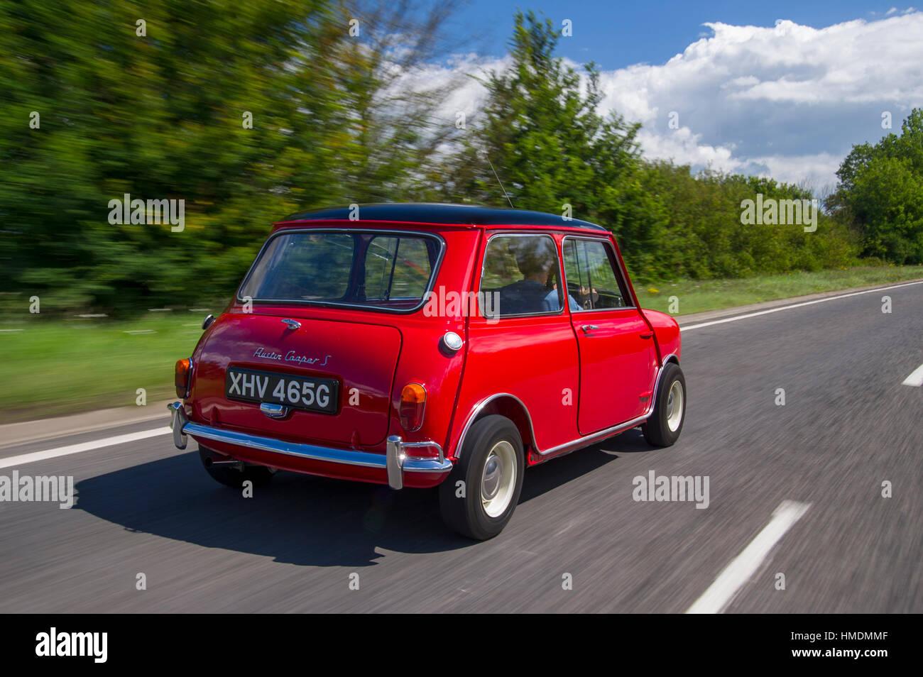 1968 Mini Cooper S classic compact British sports car - Stock Image