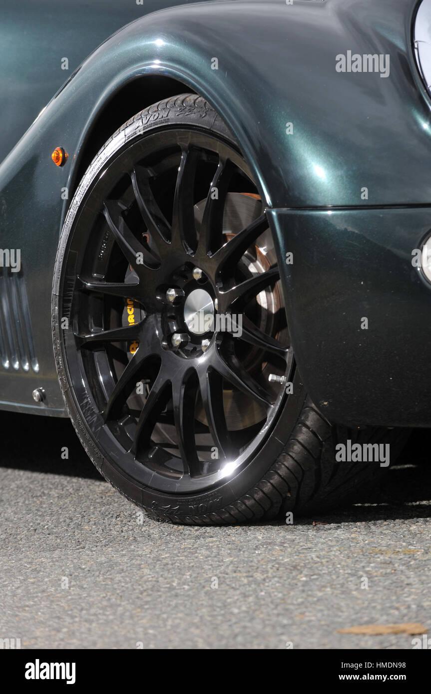 2010 Morgan Aero retro styled British V8 sports car - Stock Image