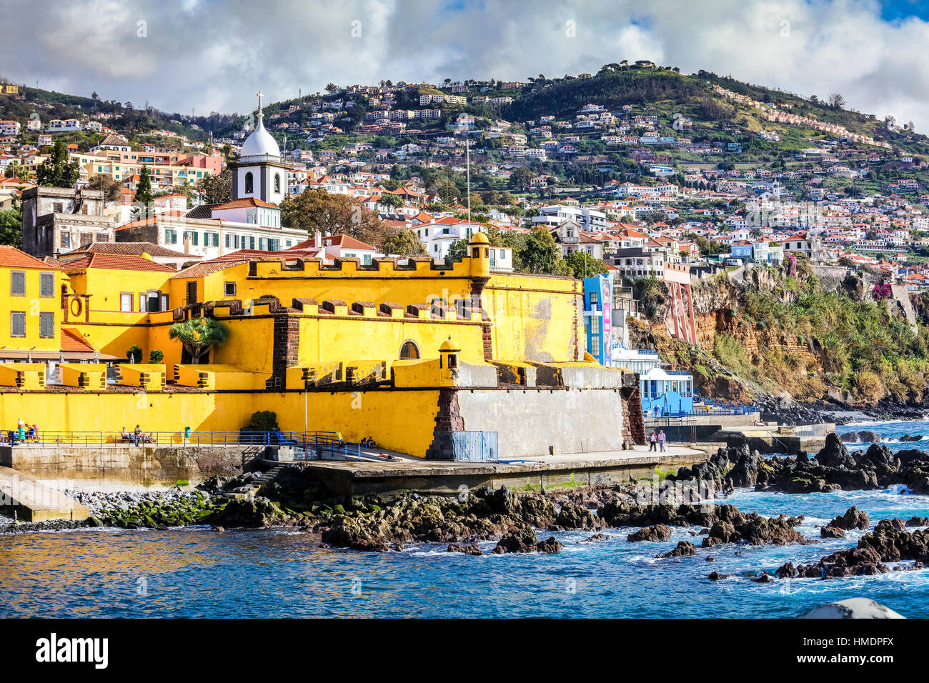 Old castle in Funchal, Madeira, Portugal - Stock Image