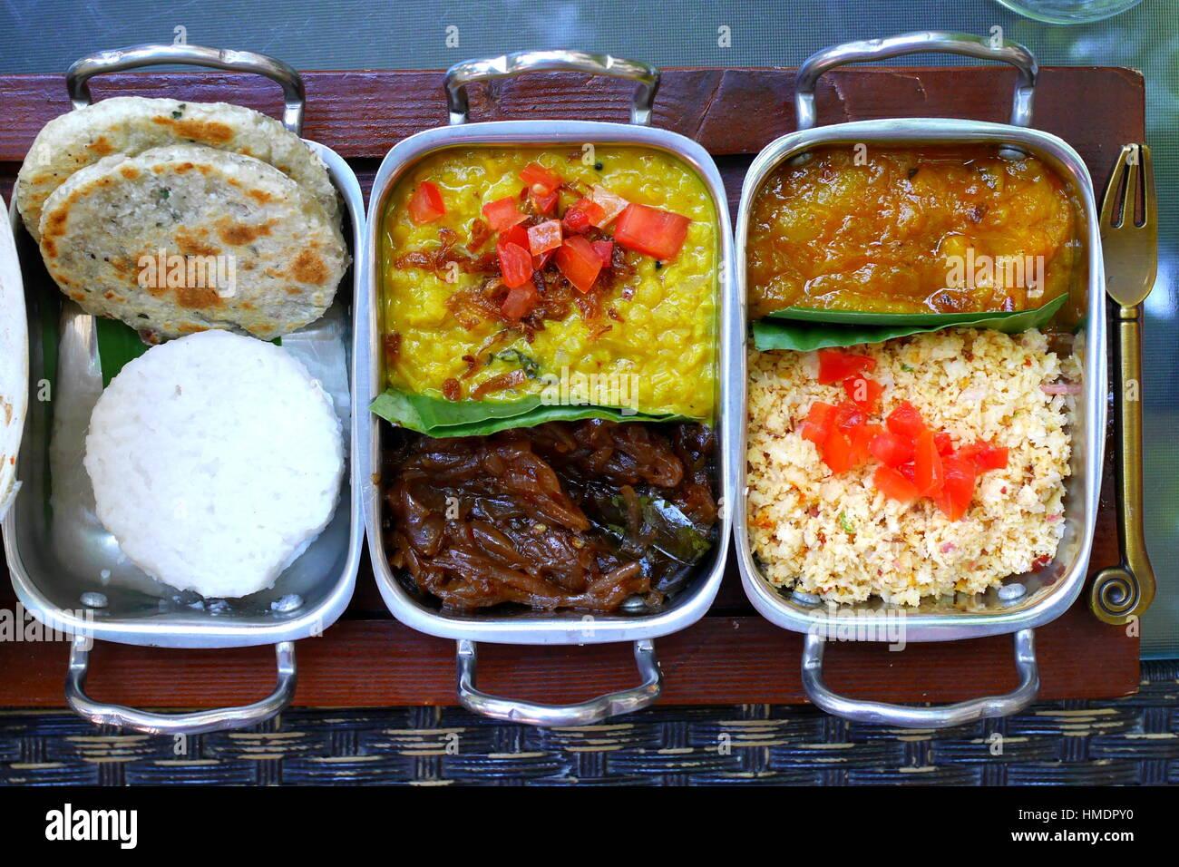 Sri Lankan breakfast, Adliya, Bahrain - Stock Image