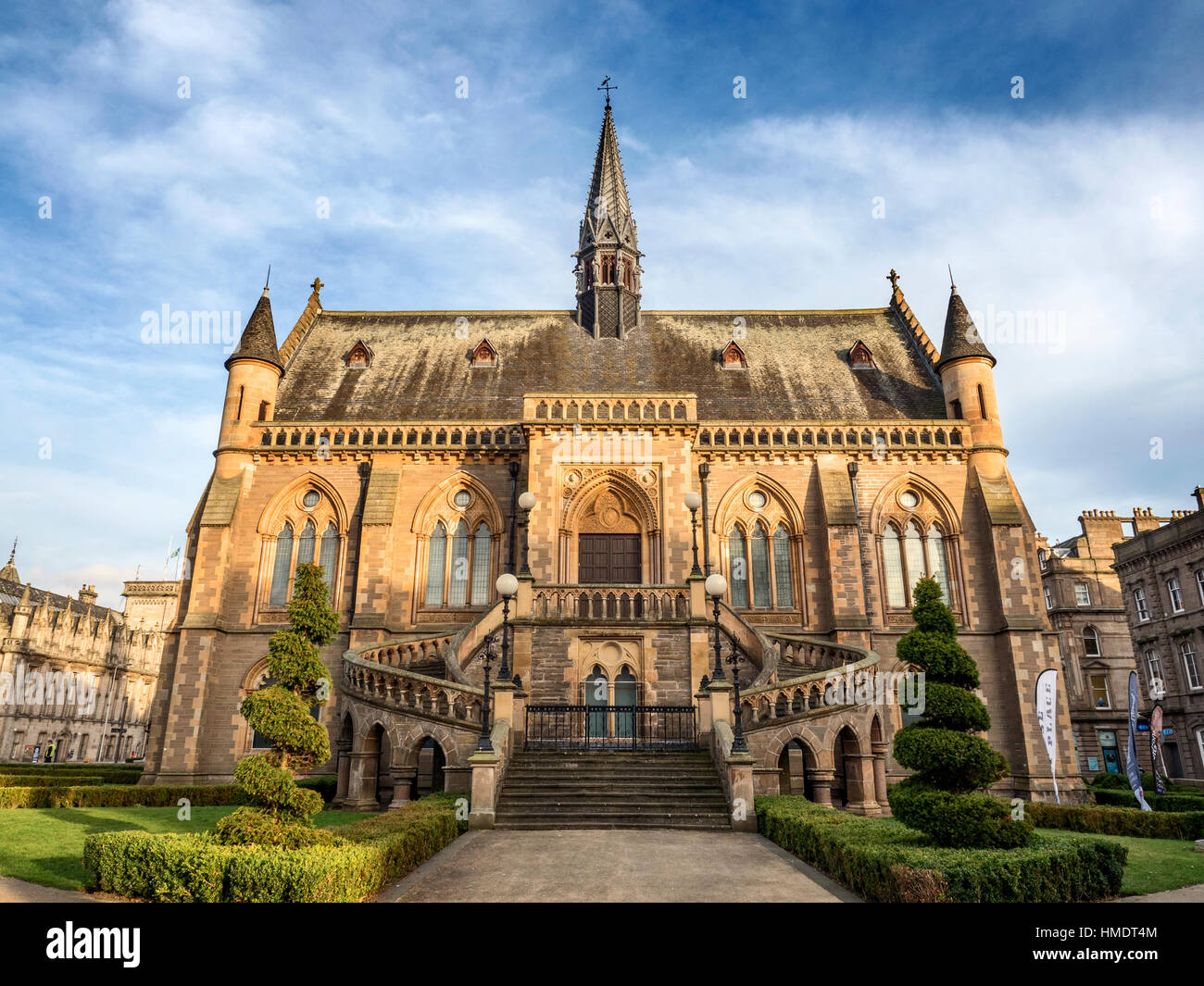 McManus Art Gallery and Museum at Sunset in Dundee Scotland - Stock Image