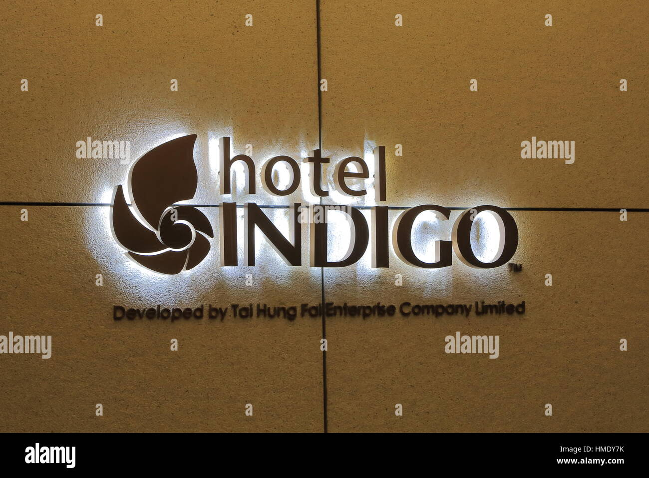Hotel Indigo 5 star hotel. Hotel Indigo is a chain of boutique hotels and part of InterContinental Hotels Group. - Stock Image