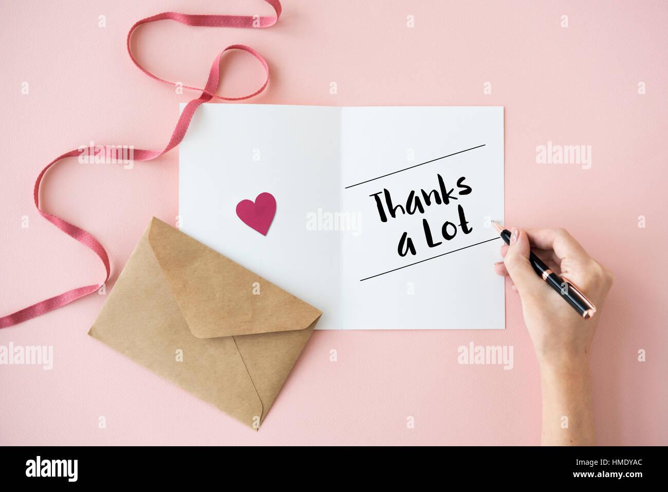 Thank Appreciation Grateful Thankful Concept - Stock Image