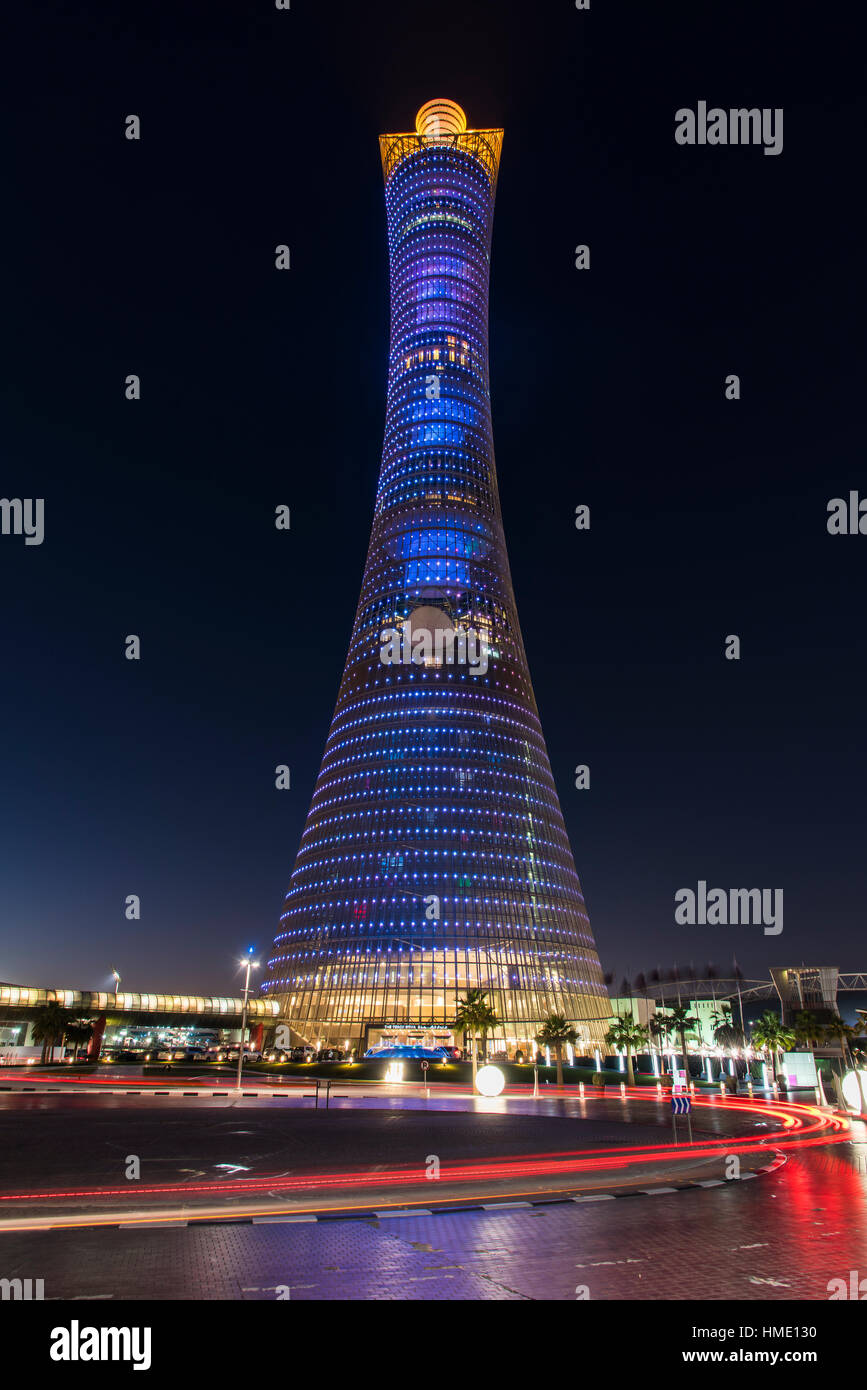 Aspire Tower, also known as The Torch Doha, Doha, Qatar - Stock Image