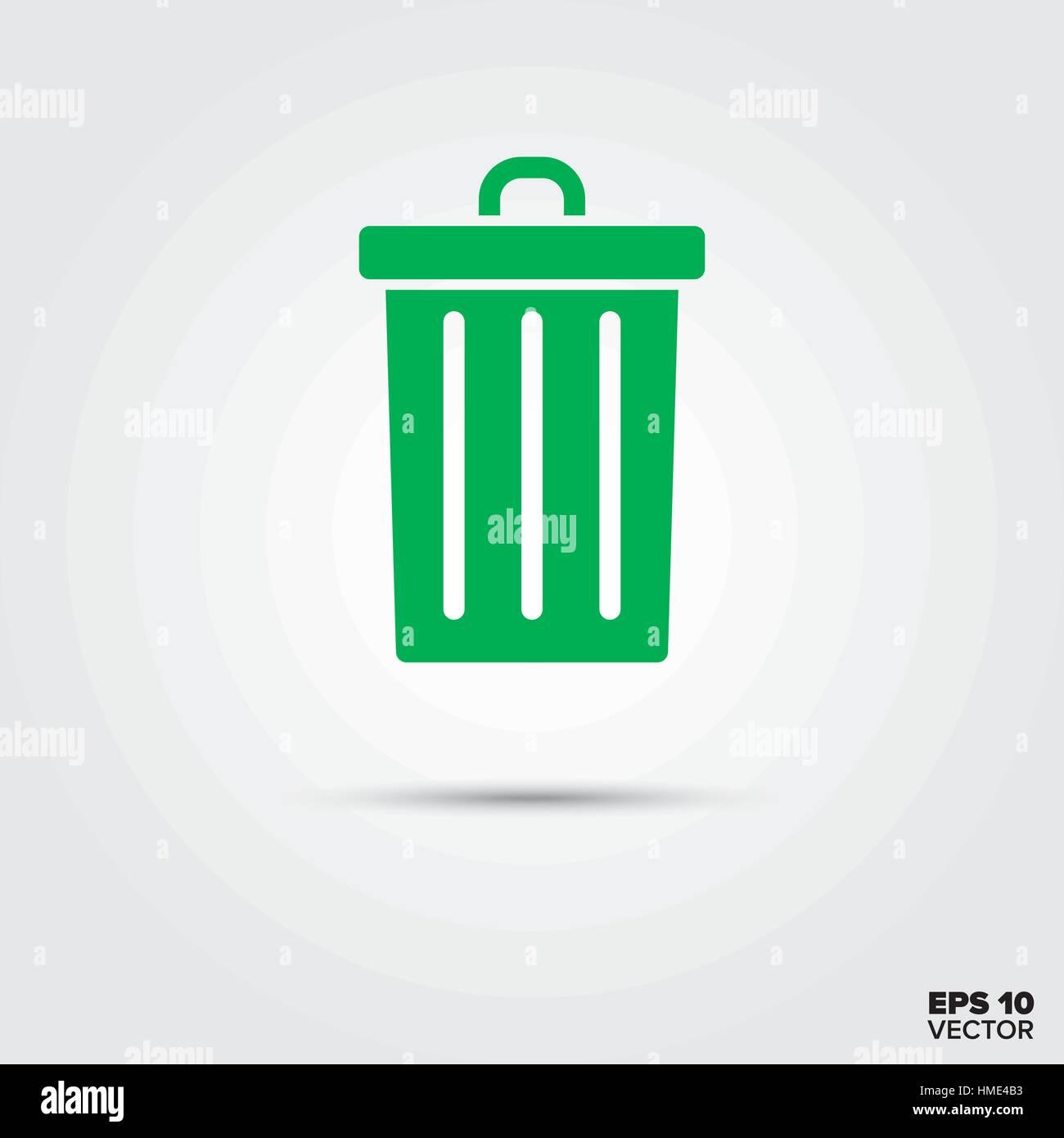Vector Trash Can Symbol Sign Clip Art