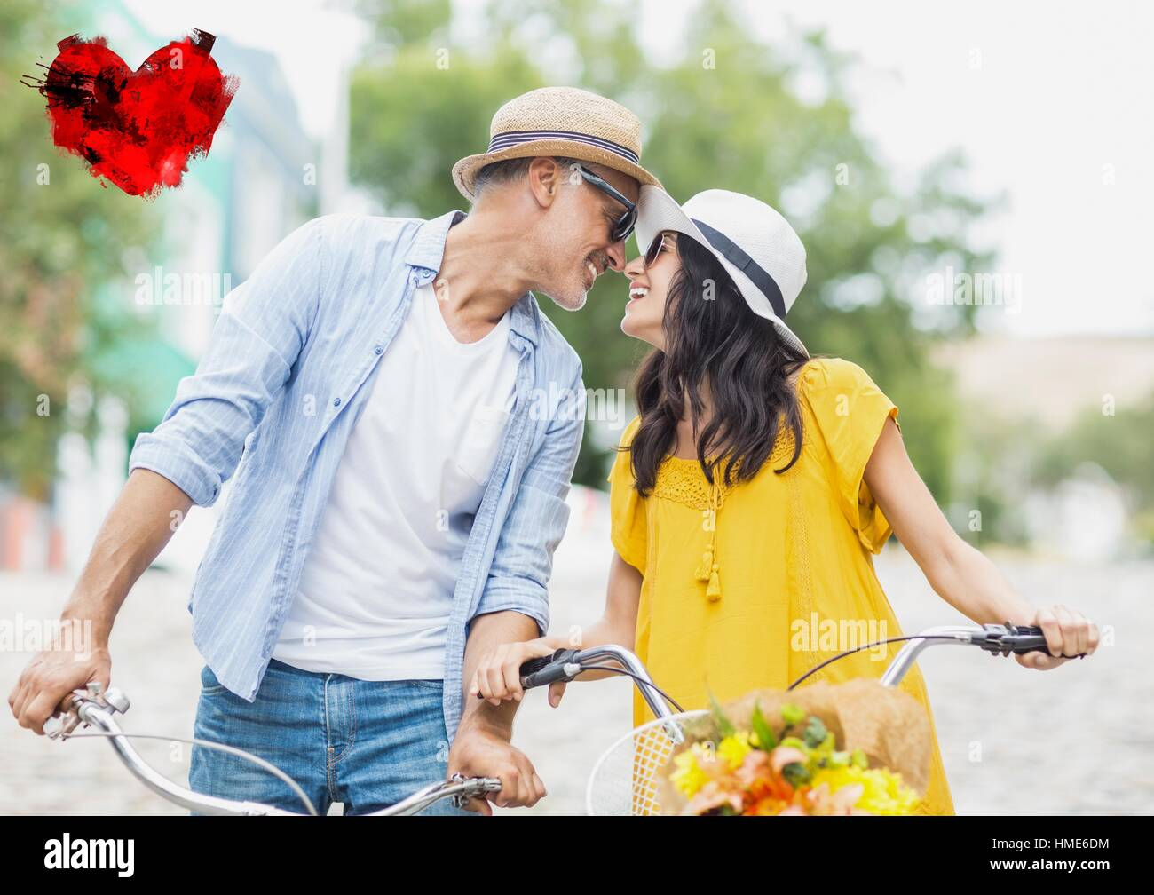 Romantic couple having fun - Stock Image