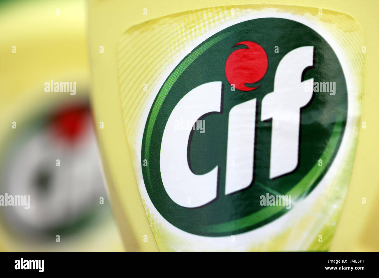 Cif cleaning product - Stock Image