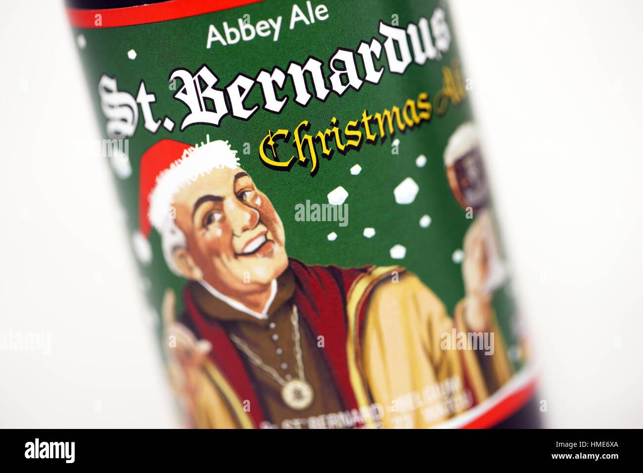 Christmas Belgian beers - Stock Image