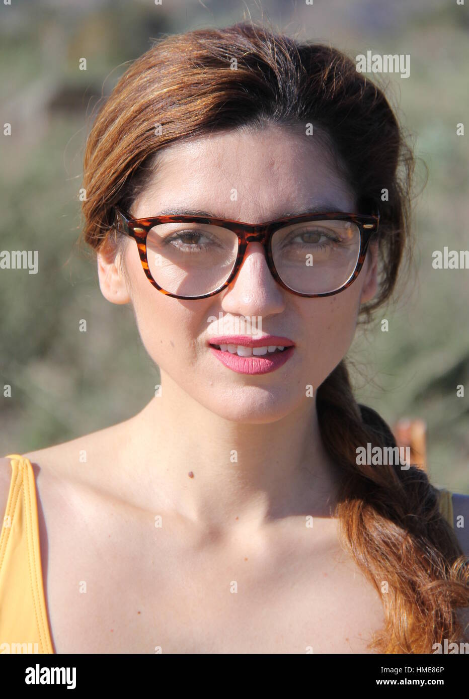 7edceef832 Blanca Blanco poses in a yellow swimsuit during a New Year s Day photoshoot  on Malibu Beach Featuring  Blanca Blanco Where  Malibu