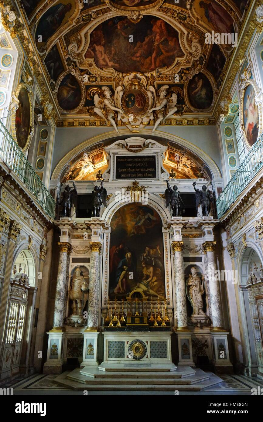 Trinitarians Chapel. Palace of Fontainebleau. France Stock Photo