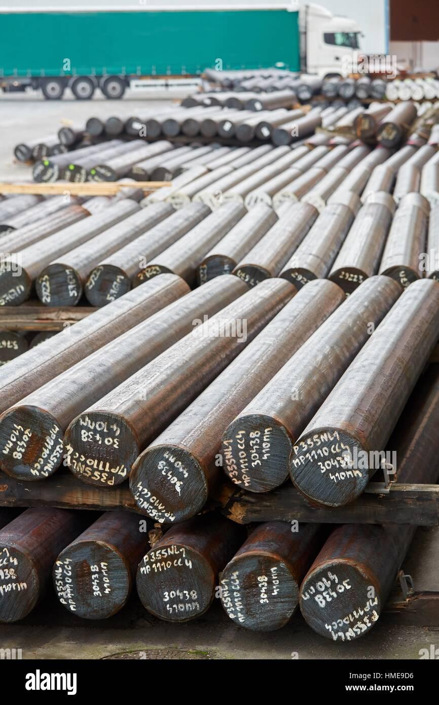 Steel bars, Iron Industry, Gipuzkoa, Basque Country, Spain - Stock Image