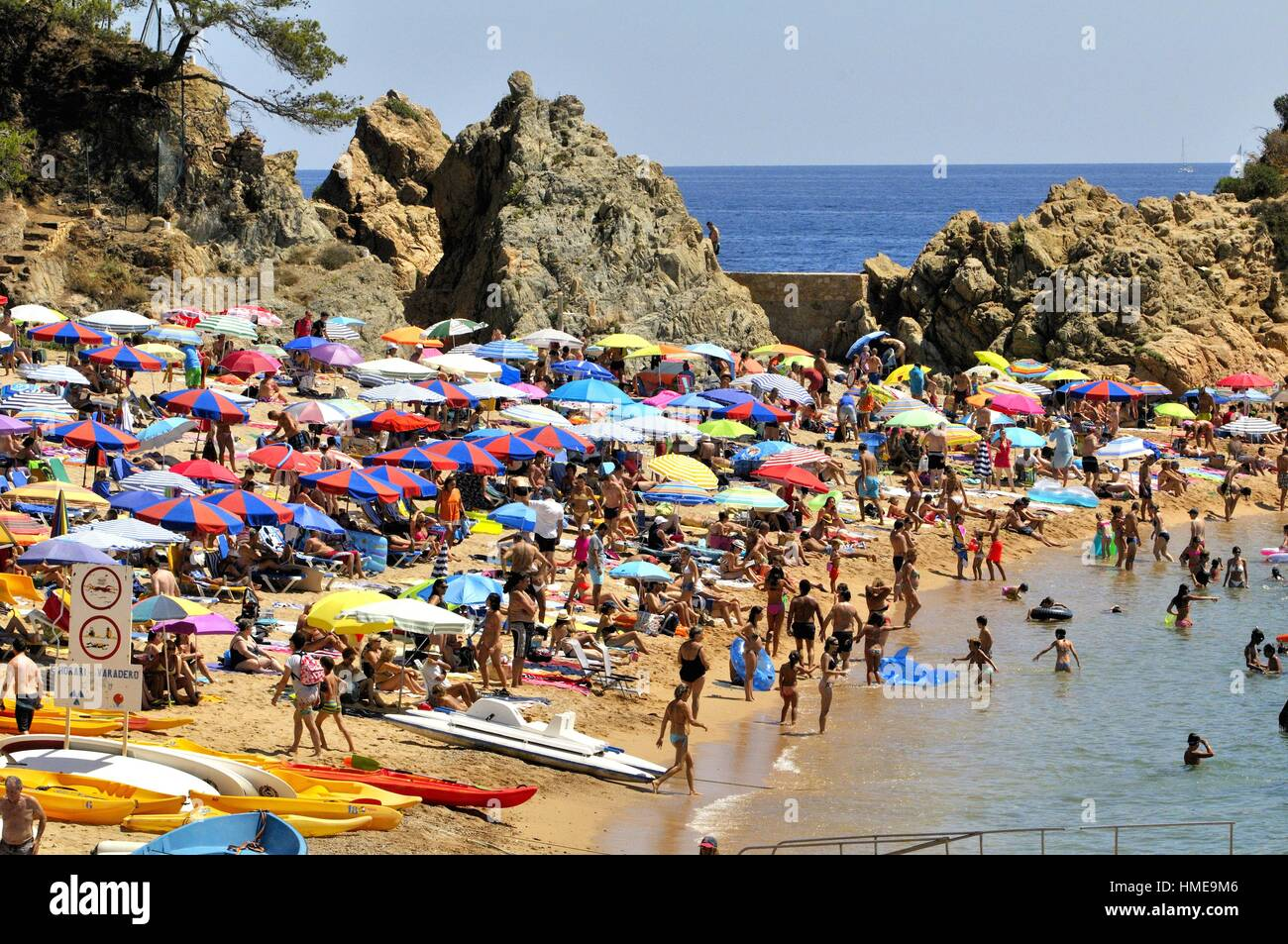 Tossa De Mar Beach Located Stock Photos & Tossa De Mar Beach Located ...