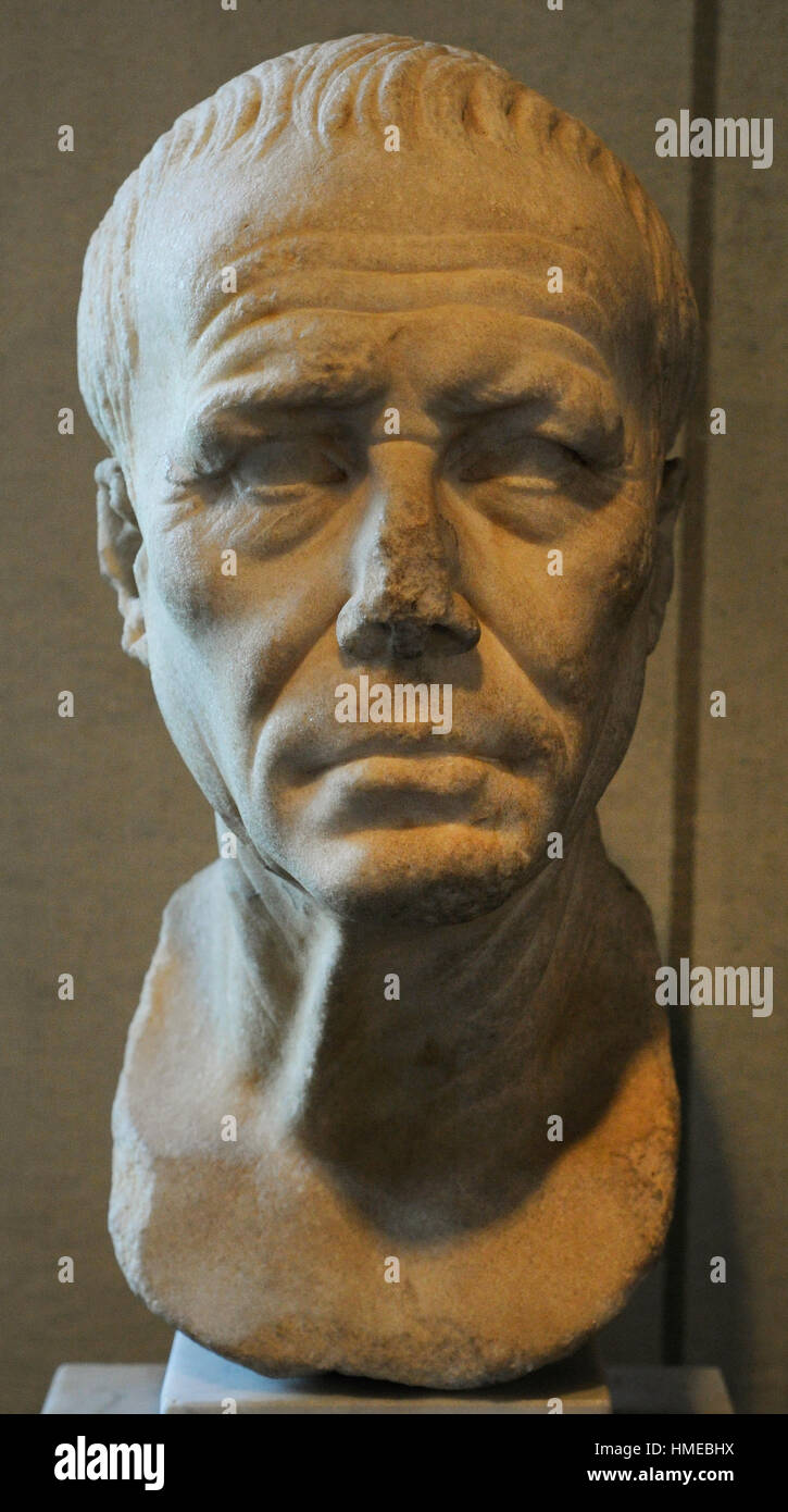Julius Caesar (100BC-44BC). Roman politician and general. Bust. City Museum. Malmo Castle. Sweden. - Stock Image