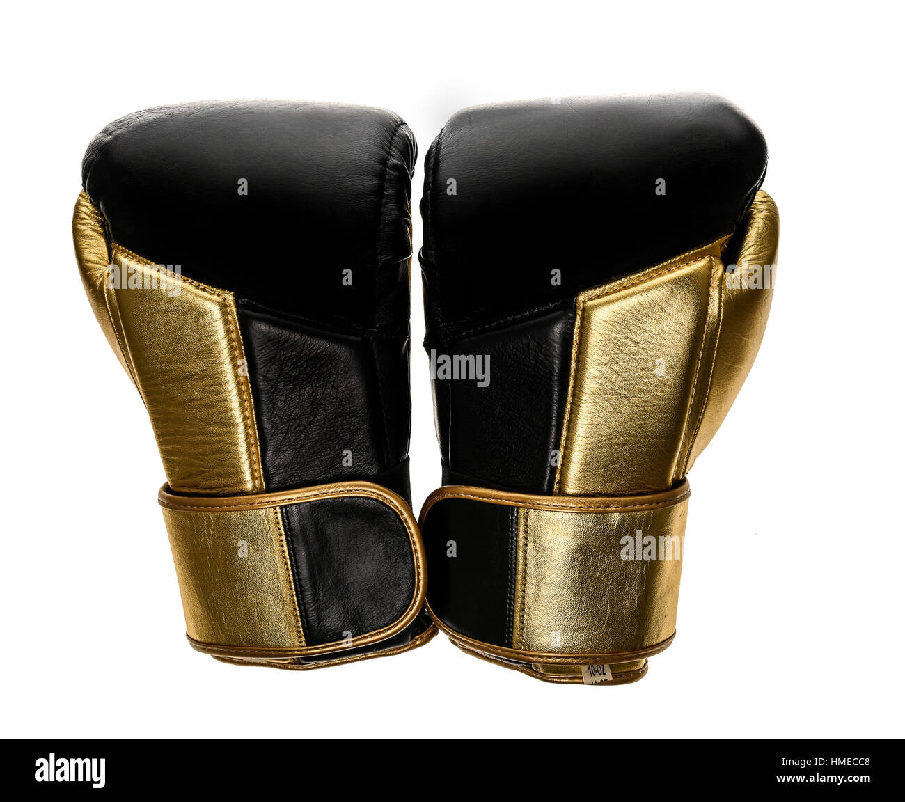 Full Contact Combat Sport >> Golden And Black Boxing Gloves Isolated On White Background Sport