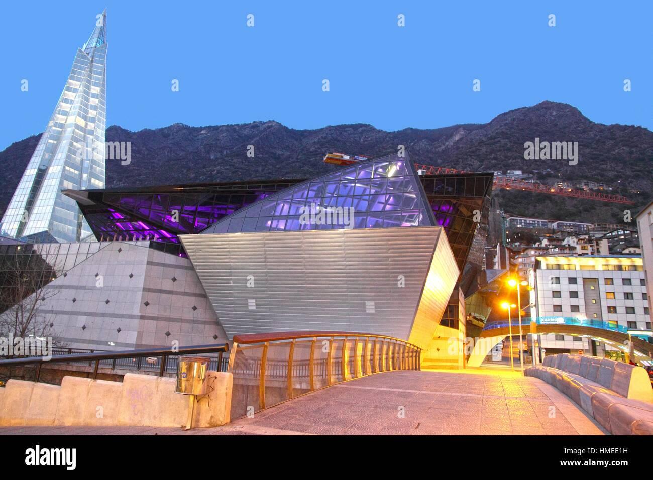 Caldea Spa Modern Building In Andorra La Vella Europe Pyrenees