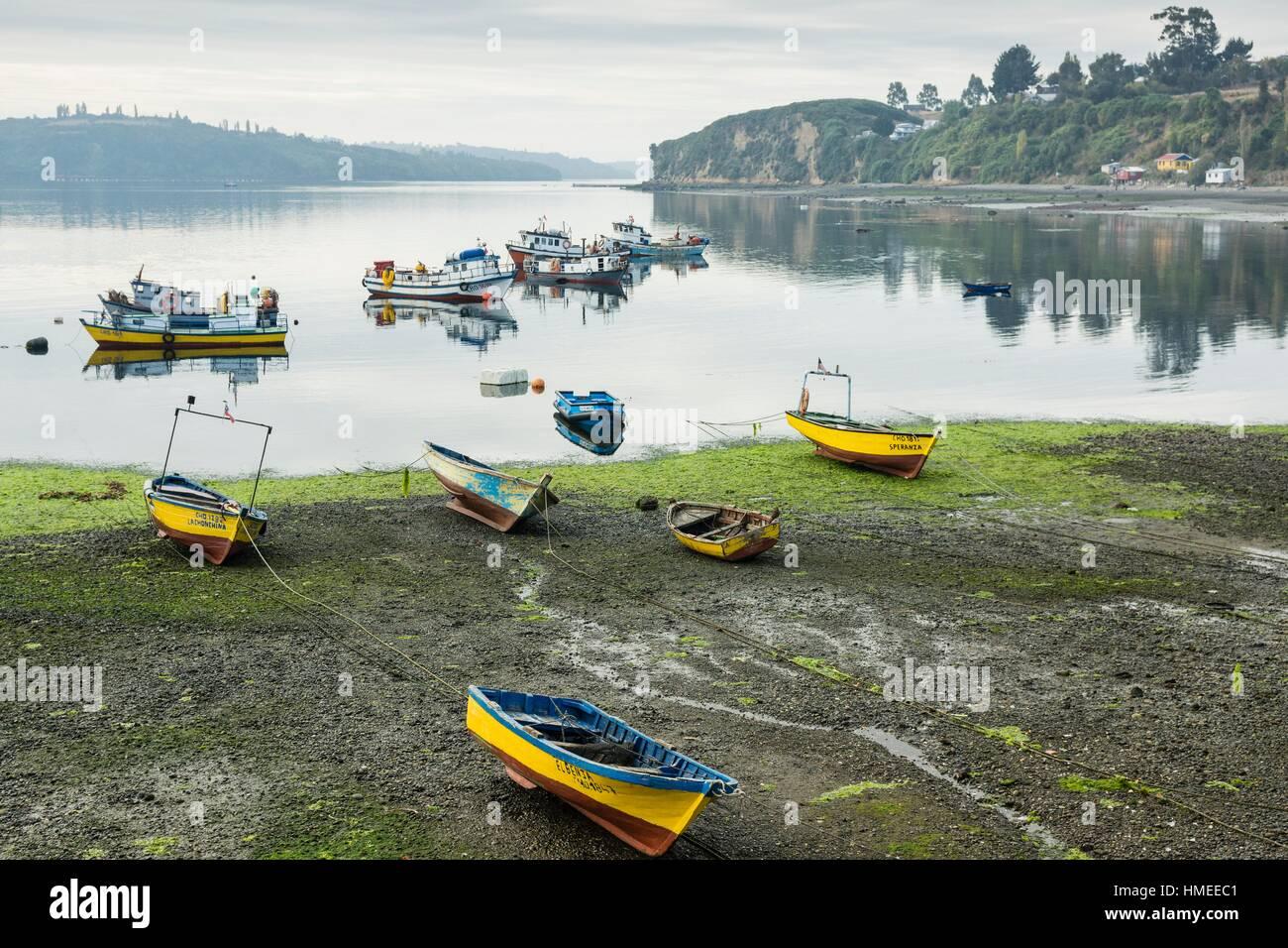Chonchi, archipiélago de Chiloé ,provincia de Chiloé ,región de Los Lagos,Patagonia, República de Chile,América Stock Photo