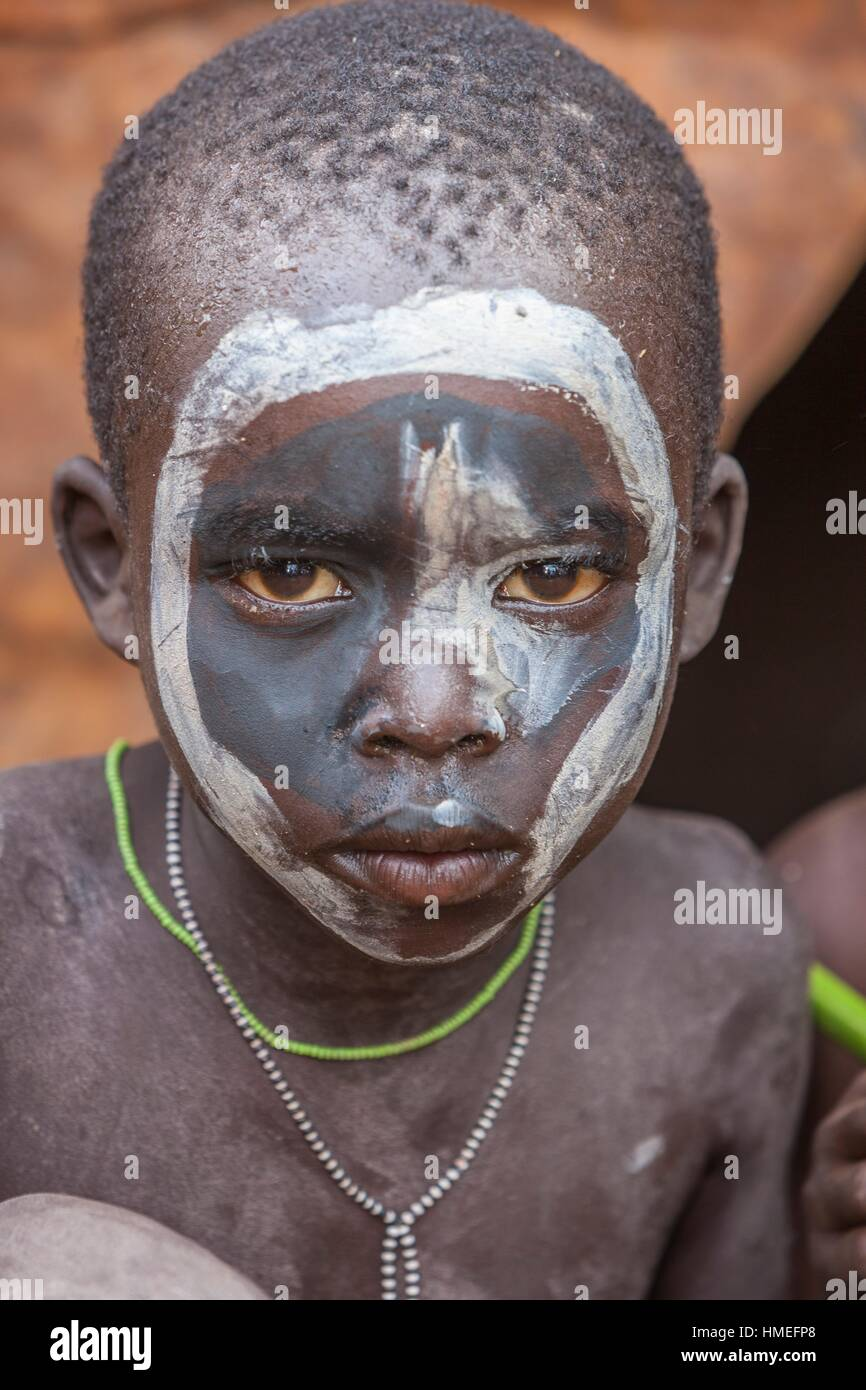 young Bume tribe boy Stock Photo