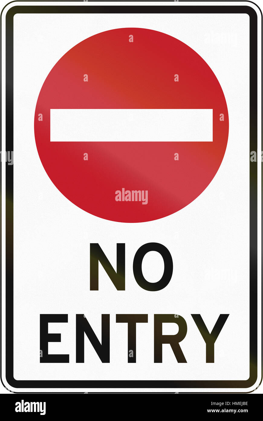 Road sign in the Philippines - No Entry For All Vehicles Stock Photo