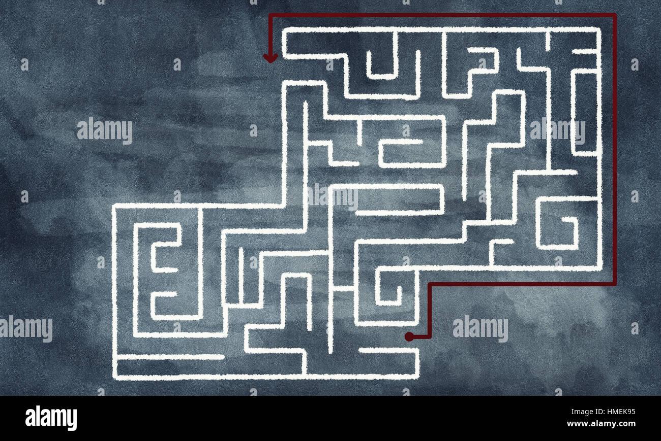 Labyrinth pattern - Stock Image