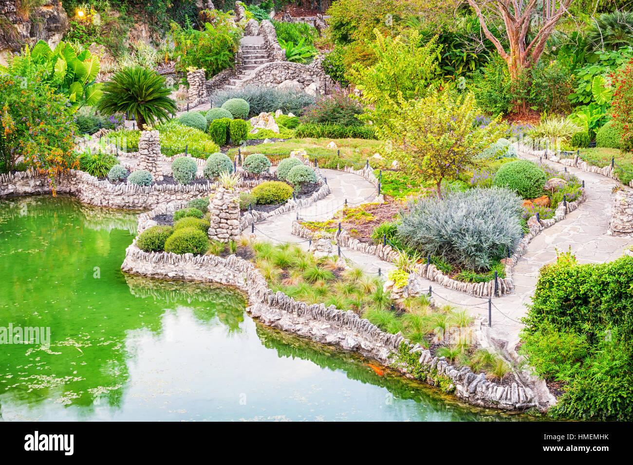 Good The Japanese Tea Garden, A Public Park In San Antonio, Texas, USA