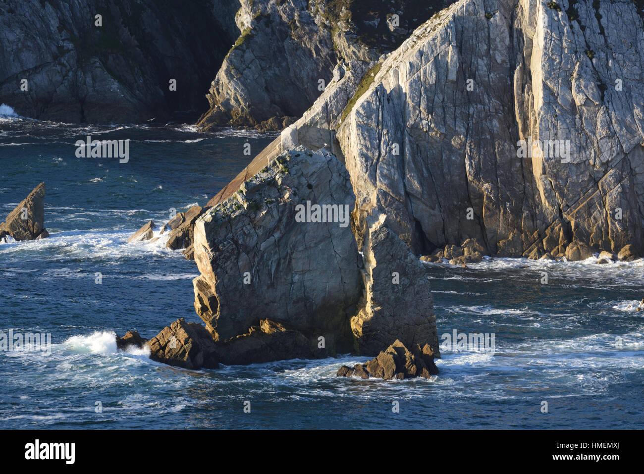 Cliffs off the Achill Island - Ireland - Stock Image
