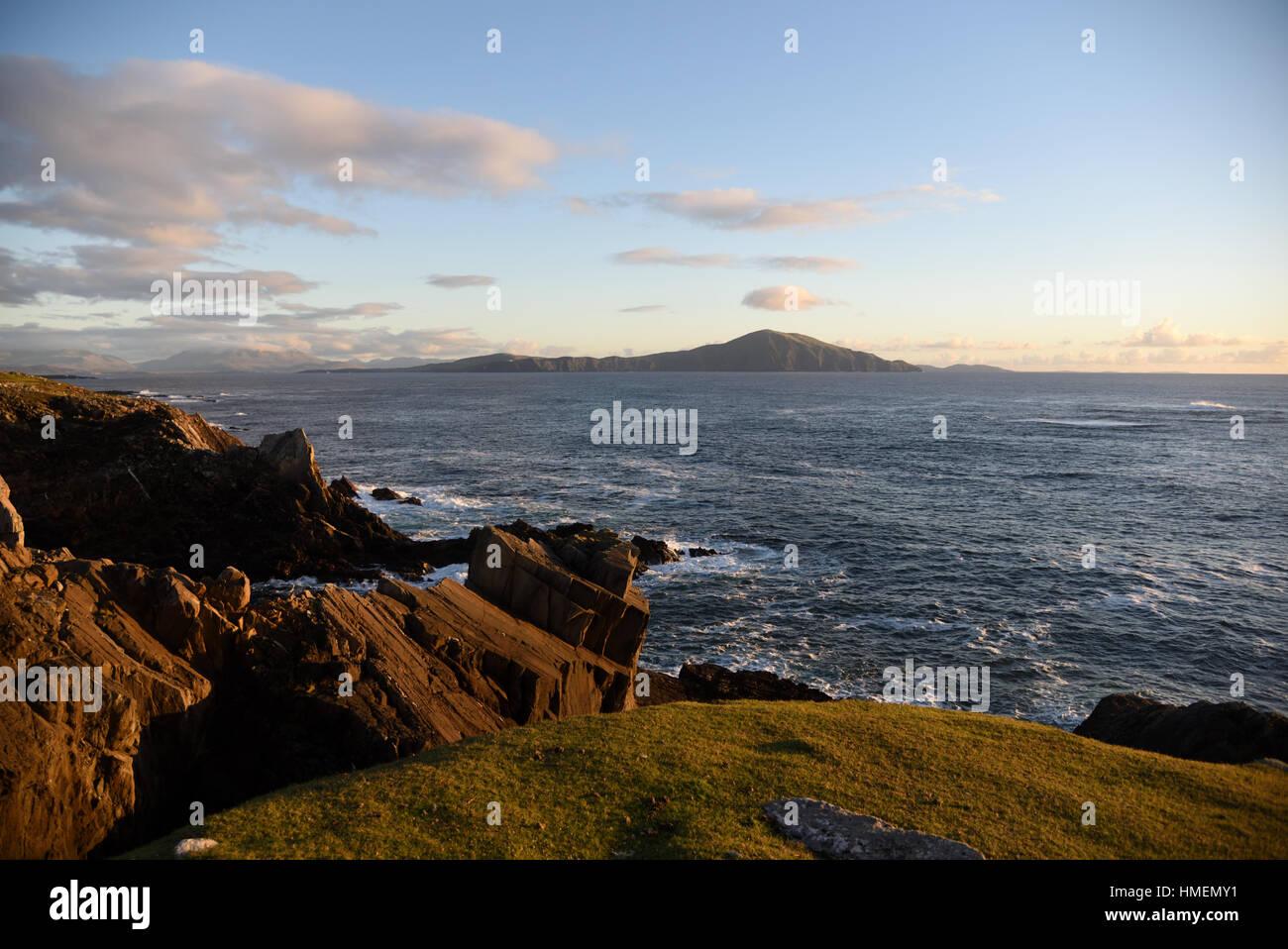 Clare Island off the Achill Island - Ireland - Stock Image