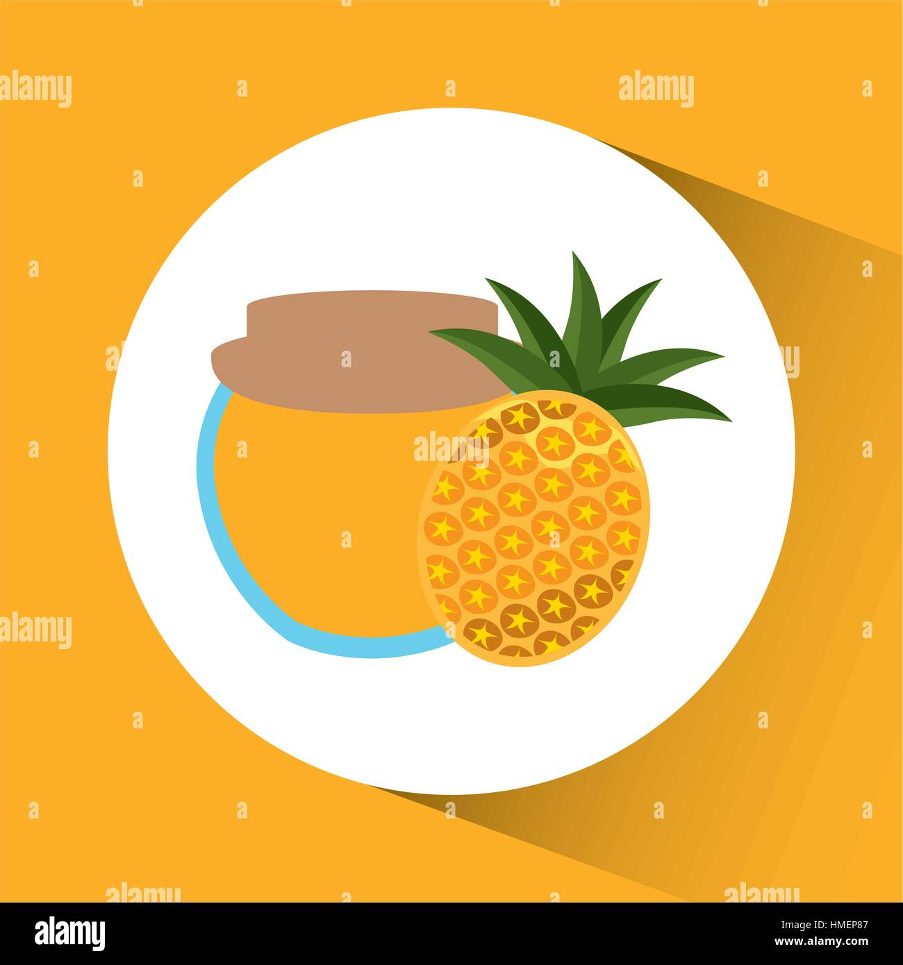 Preserved fresh fruit icon vector illustration design - Stock Vector