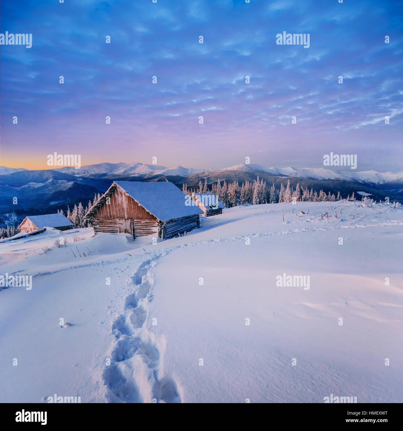 fantastic winter landscape - Stock Image