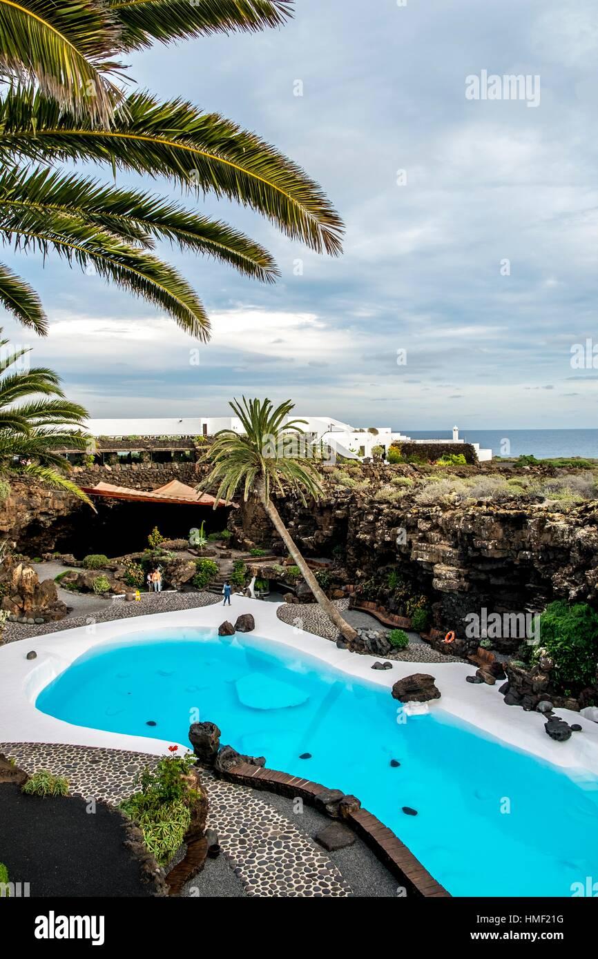 Jameos del Agua by Cesar Manrique in Lanzarote, Canary Islands, Spain. Stock Photo