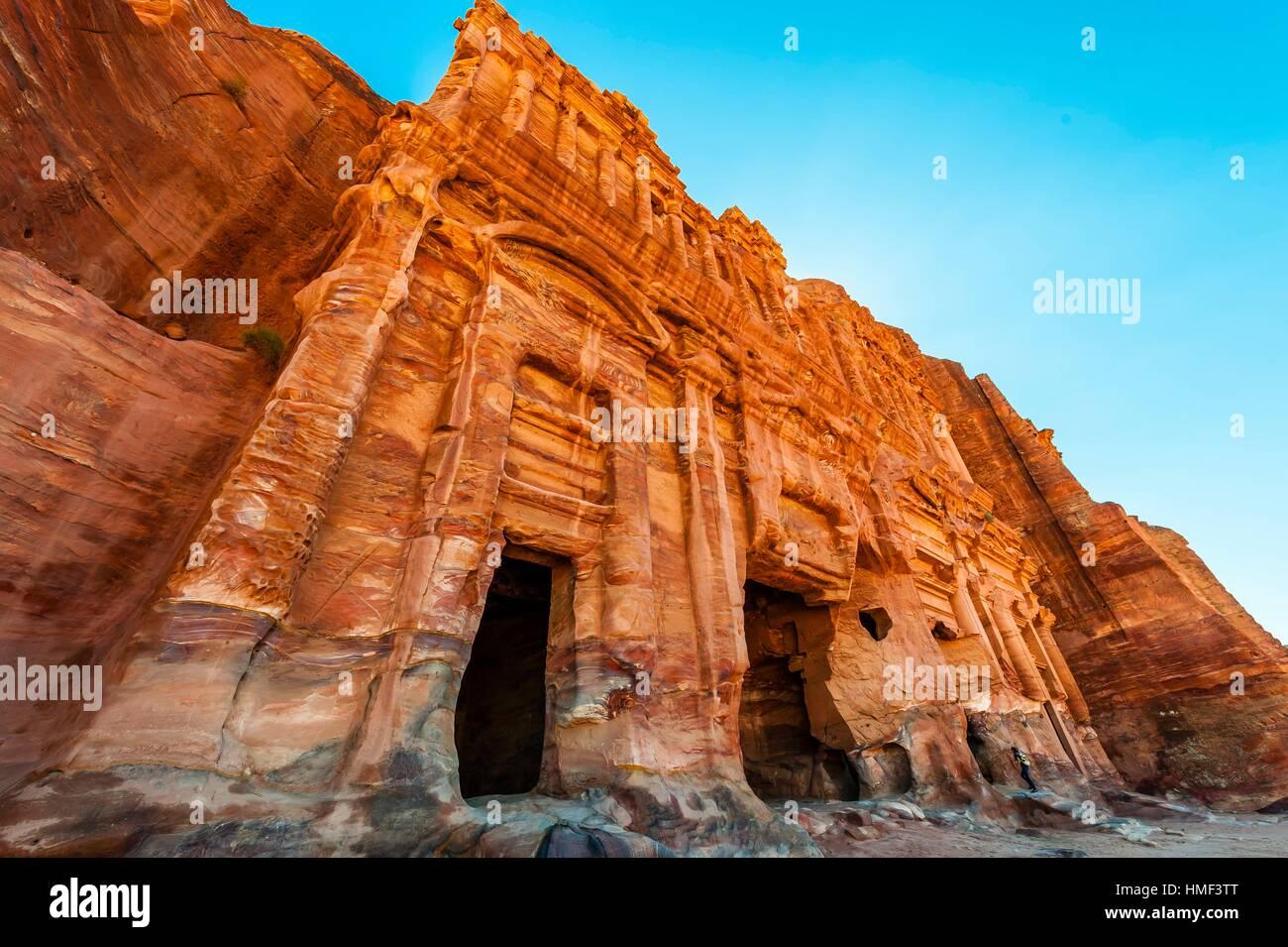 Palace Tomb (the Royal Tombs), Petra Archaeological Park (a UNESCO World Heritage Site), Petra, Jordan. Stock Photo
