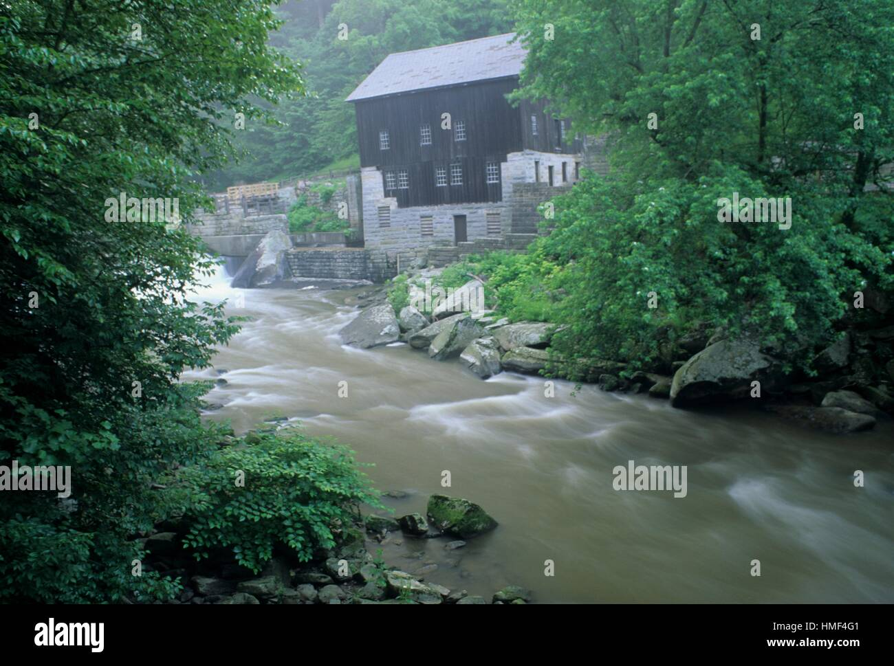 McConnell´s Mill & Slippery Rock Creek, McConnell´s Mill State Park, Pennsylvania. - Stock Image