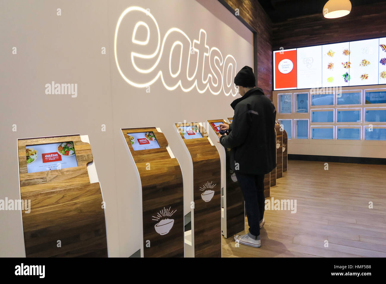 East Automated Restaurant, NYC, USA - Stock Image