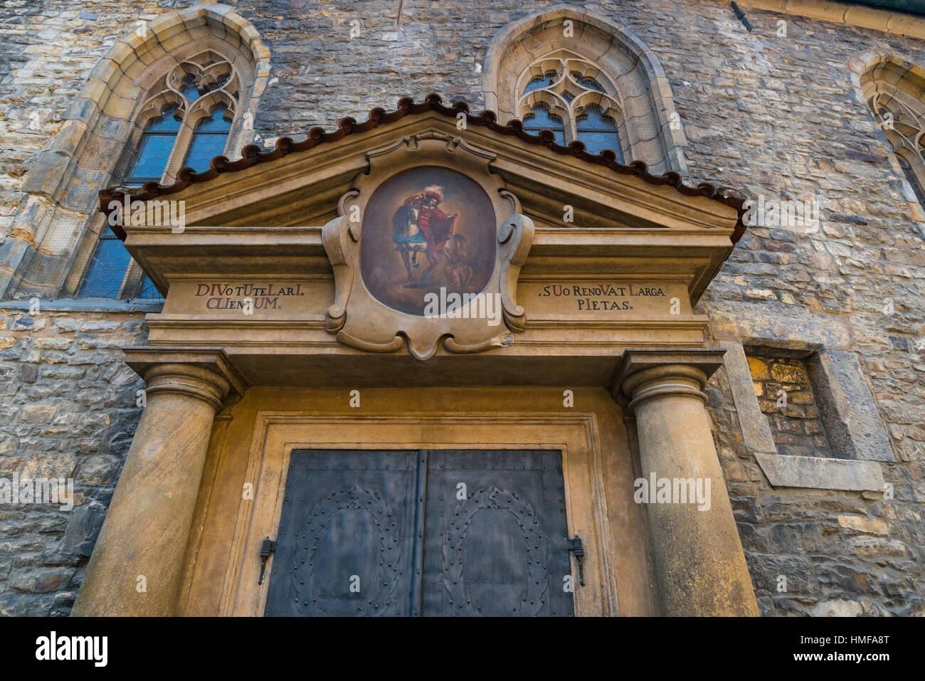 St. Martin in the Wall Church, Kostel sv. Martin ve zdi, Prague, Czech Republic, Europe. Stock Photo
