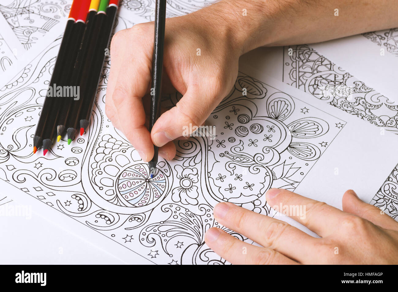 Coloring Pages For Adults Is Zen And Antistress Tool Hobby That Help You Relax