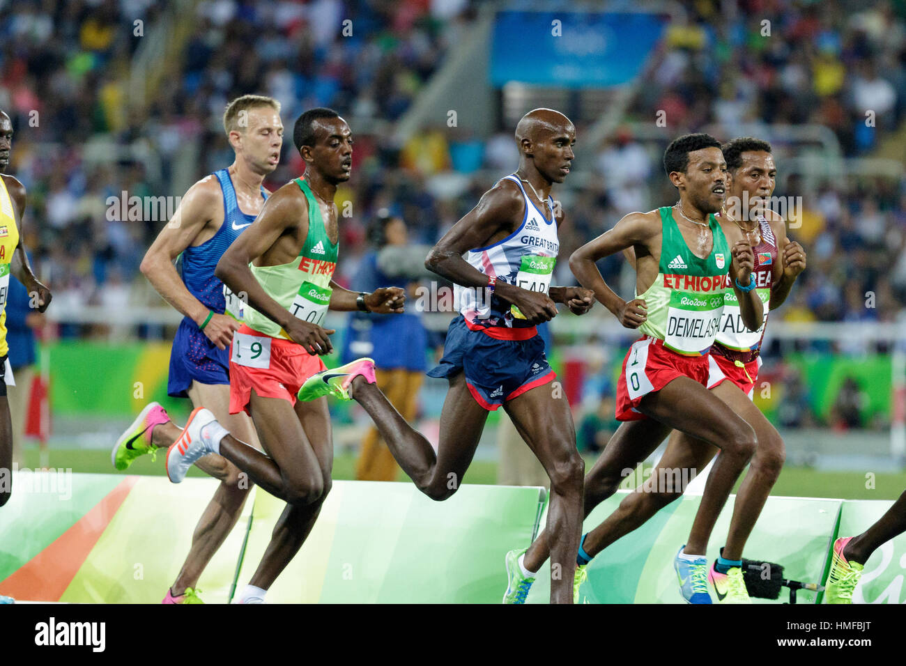 Rio de Janeiro, Brazil. 13 August 2016.  Athletics, Men's 10.000m final at the 2016 Olympic Summer Games. ©Paul - Stock Image