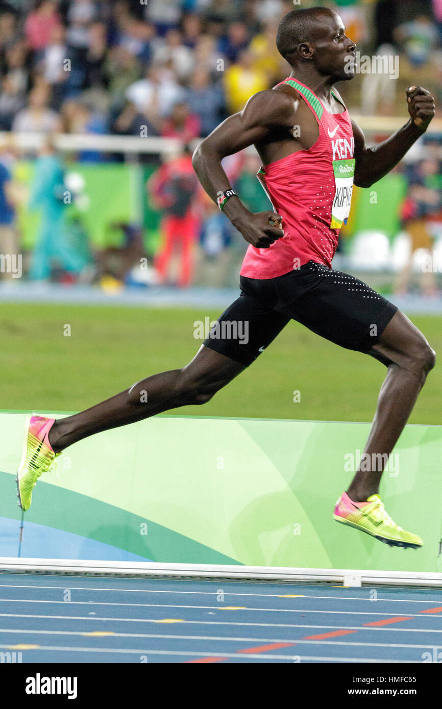 Rio de Janeiro, Brazil. 13 August 2016. Alfred Kipketer (KEN) competing in the  Men's 800m semi-final at the - Stock Image