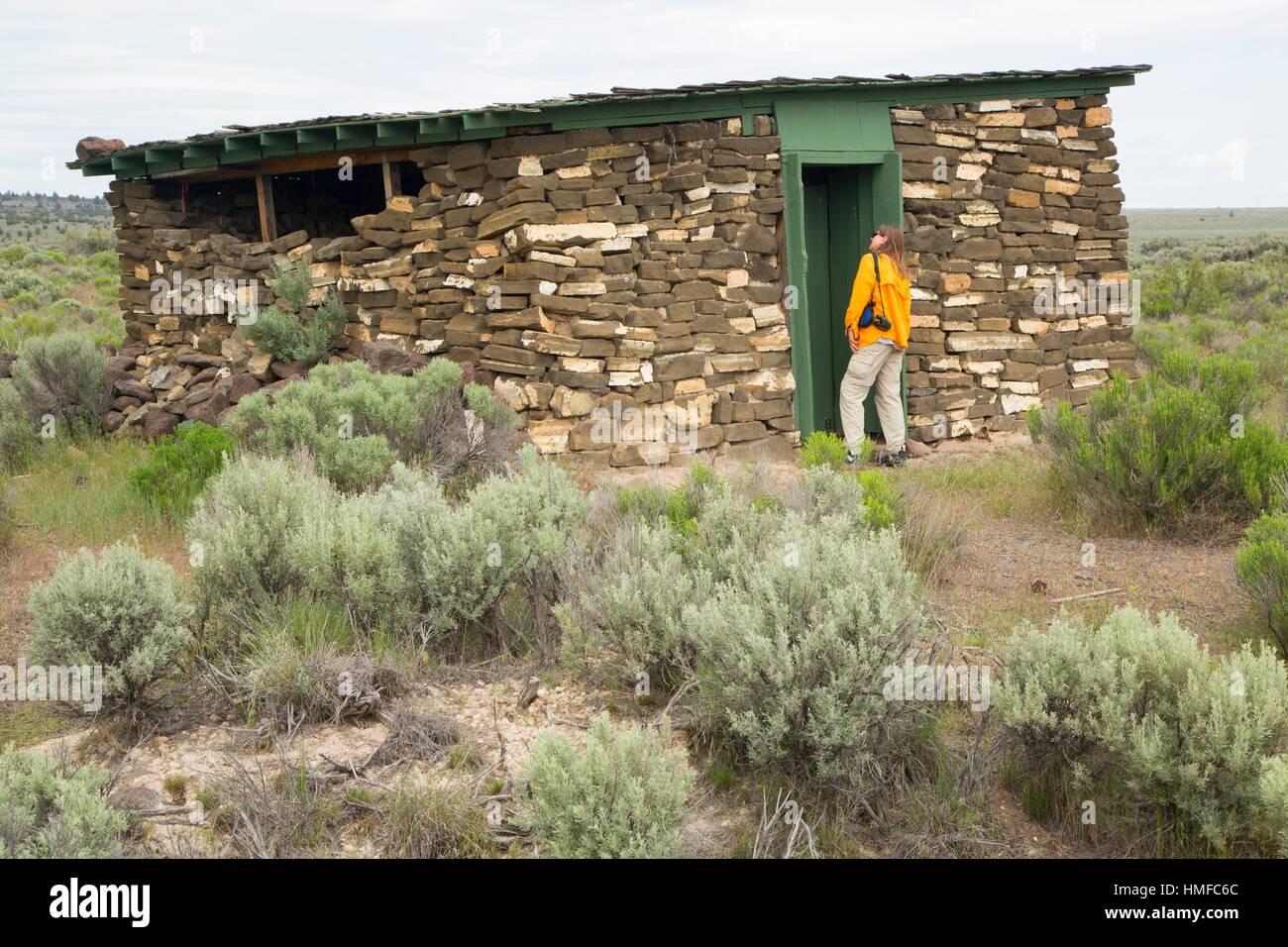 Cold Storage Building, Camp Gap Ranch, Burns District Bureau of Land Management, Oregon. - Stock Image