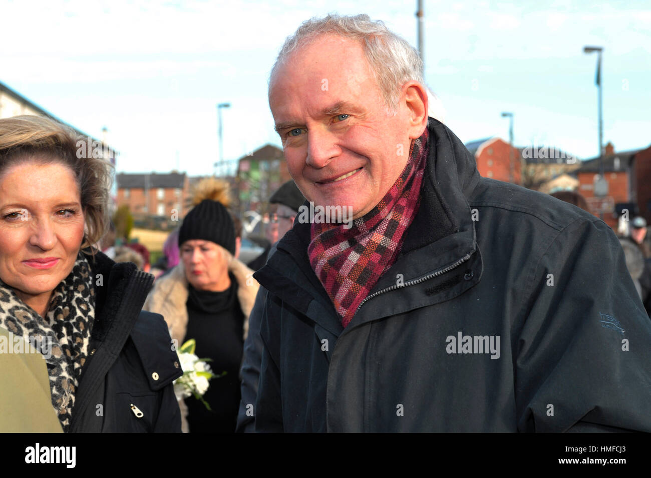 Martin McGuinness, Sinn Fein, at the 45th Bloody Sunday memorial service in Derry, Londonderry. - Stock Image