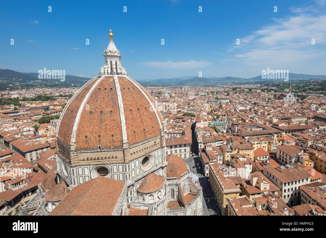 City Of Florence: Florence Duomo Brunelleschis Dome Cathedral Stock Photos