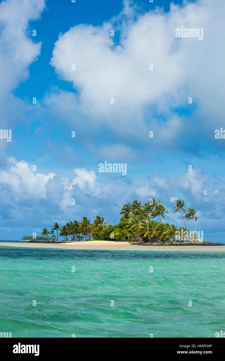 Beautiful little islet in the lagoon of Wallis, Wallis and Futuna, Pacific - Stock Image